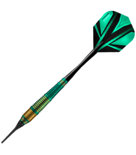 SOFTIP DARTS HARROWS VIVID BRASS Green. 18gR