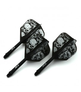 CUESOUL AK5 Shape Flights Skeleton Black