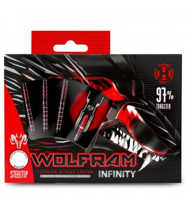 STEEL DARTS HARROWS WOLFRAM INFINITY 97% 22gR