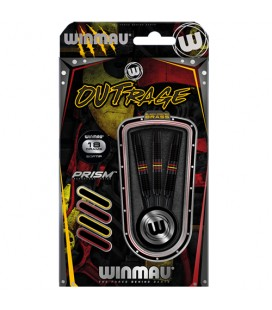 SOFTIP DARTS WINMAU OUTRAGE Brass Black. 18gr